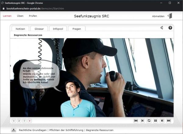Onlinekurs SRC - Sprechfunkzeugnis - 8 Wochen Zugang