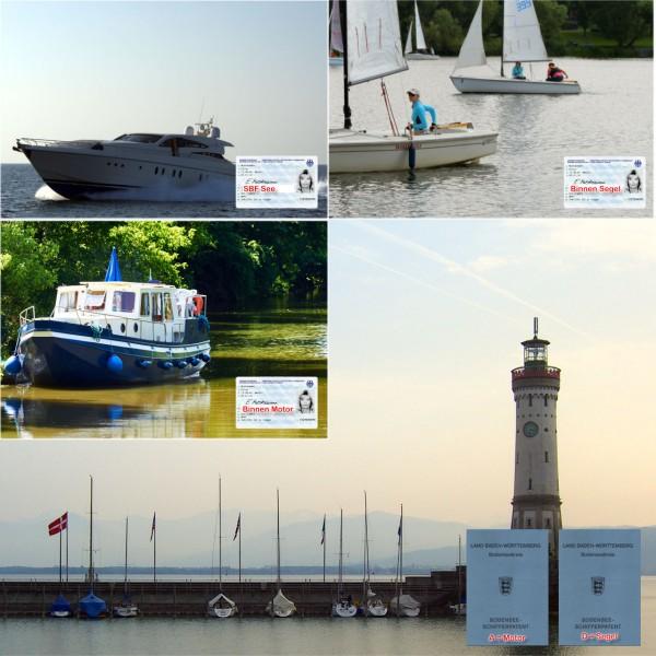 Kombination - Motorboot Binnen / See / Bodensee + Segeln