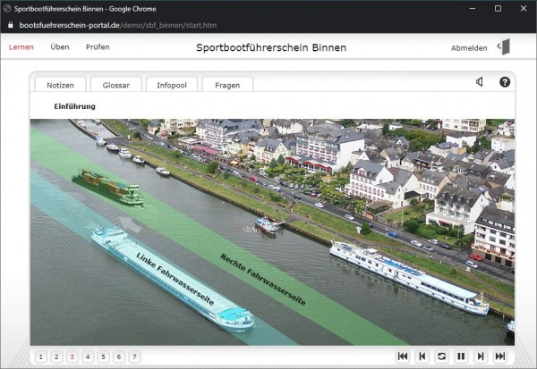 Onlinekurs SBF Binnen für Flüsse und Seen - 8 Wochen Zugang