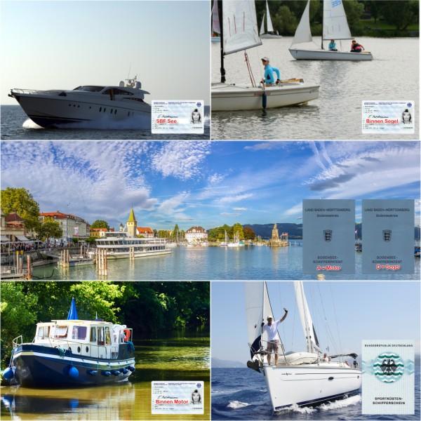 See Upgrade Praxis + Theoriekurs + Bodensee + SBF Binnen Segel / Motor + SKS
